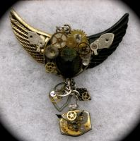 Scarab Steampunk Necklace by Lucky978
