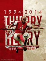 Thierry Henry Poster 2014 by AlbertGFX