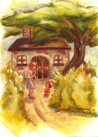 The cottage in the country by KikaPaz