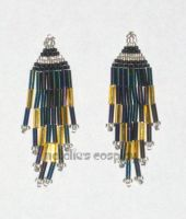 Mini Iris and Gold Earrings by Natalie526