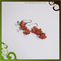 Tigerlily Earrings by lily-inabottle