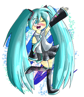 (Gift) Miku! by saralibrary