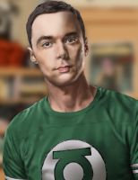 Sheldon (Jim Parsons) by iamherecozidraw