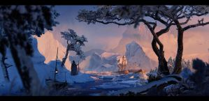Frozen world +Making of +FREE PSD by glazyrin