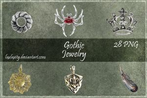 Gothic Jewelry Clipart by LaxLaxity