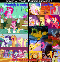 Know the difference MLP FIM vs G1 parody meme by elfman83ml