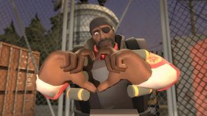 valentine fortress 2014: demoman (Red) by qatarz
