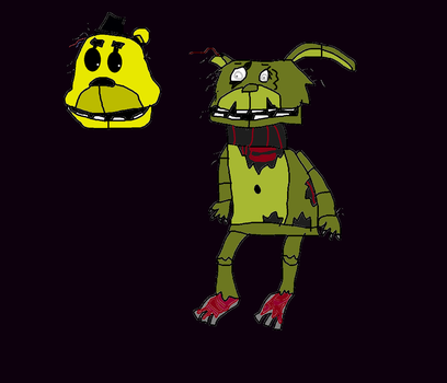 New and improved Springtrao and W.Goldy by IamTheRealSpringTrap