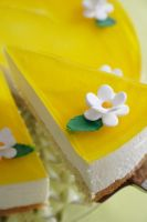 Lemon and Saffron Cheesecake by neongeisha