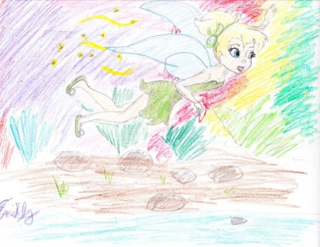 quick sketch tinker bell by Emmadog1