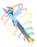MLP - RAINBOOM DASH!! by nyausi