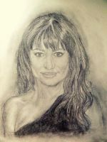 Lea Michele portrait drawing by SatineChristian