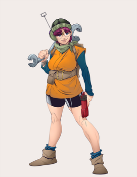 Lucca from Chrono Trigger colors by AshyKnuckles