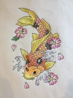 Fish Koi - Commissioned Tattoo by Nuocri
