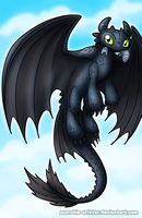 Toothless by Scorchie-Critter