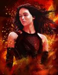 The Girl on Fire by gfuentesart