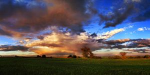 Stormy clouds Panorama by stg123
