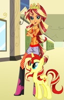 EQG Sunset Shimmer by HatterM97
