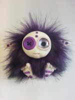 Buttons - Polymer Clay Troll w Faux Fur Body by Orang3Marmalade