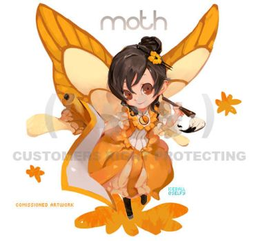 Commission - Moth by u-ness