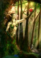 Forest Dryad by havokreed