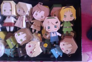 More papercrafts yeah!~ by LadyEdile