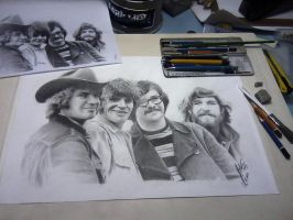 Creedence Clearwater Revival by JULIOART