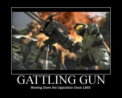 Halo Motivational: Gatling Gun by 0ArmoredSoul0