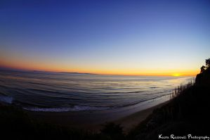 Shoreline Sunset over Beach in Santa Barbara by KasraRassouli