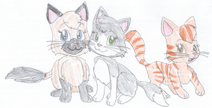 Three Cute Kittens by KendraTheShinyEevee