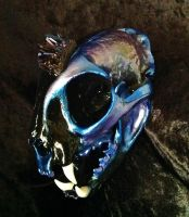 'Dark Crystal' Bobcat Skull by TheSilverCaribou
