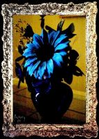 Blue Sunflower by Chatterly