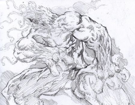 Tentacle Creature Pencils by crossbonestyle