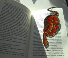 Snake Bookmark in Action by Octobertiger