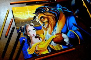 Drawing Beauty and the beast by Heatherrooney