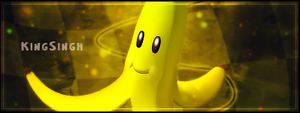Mario Kart - Banana sig by KingS1ngh