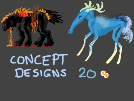CHEAP CONCEPT DESIGNS/SPECIES ADOPTS ~OPEN!~ by LOTSOFADOPTS