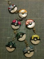 Pokeball key chains WIP by FuyunoHoshi
