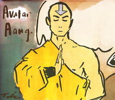 avatar aang by hairlikelemons
