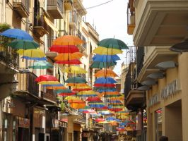 Umbrella street by Panopticon-Stock