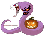 Halloween Arbok - Adopted by BrownBlurry