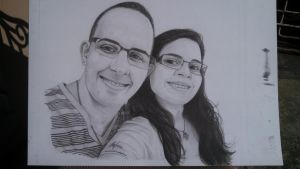 Pencil drawing - commissioned drawing by Agshy