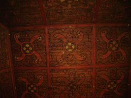 The interior of a Norwegian church- the ceiling by TammuzAsmodeus