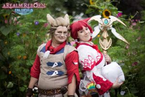 Botanist and Whitemage by InsanePleasure