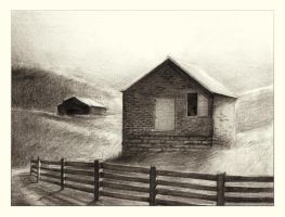 Shed and Barn by auxeru