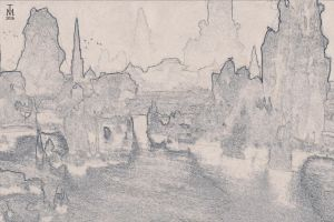 Sketch Training - Ruins of the Old Valyria by tashamille