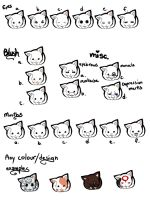 cat stickers by Girutea
