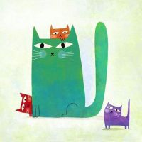 Four cats by nicolas-gouny-art