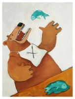 Bear and Fish by Duffzilla