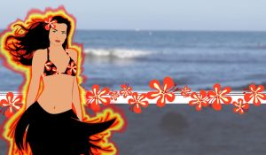 Firey Hula Girl by gekogurli
